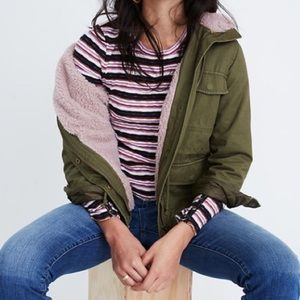Madewell sherpa trimmed surplus jacket